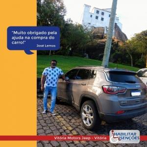 <p>A HABILITAR ISENÇÕES fez mais um cliente feliz! 😍<br /> ⠀<br /> O processo de isenção de impostos foi concluído e o José Lemos, comprou o Jeep Compass dele na Vitória Motors Jeep. 🚙<br /> ⠀<br /> E você, PCD? Faça igual o José Lemos! Entre em contato com a HABILITAR ISENÇÕES!</p>